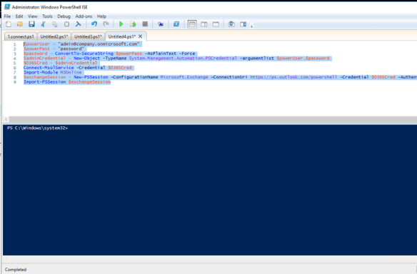 Connect To Exchange Online Using PowerShell Automatically