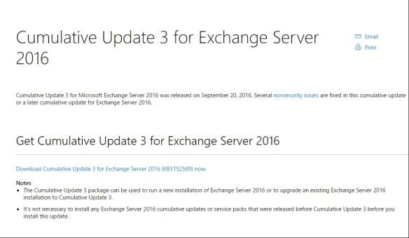 Exchange Server 2016 CU3 Released - Cloud and DevOps Blog
