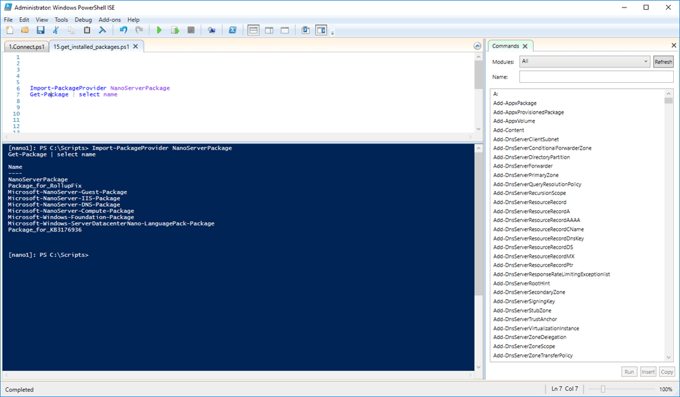 Uninstall A Role From Nano Server 2016 - Cloud and DevOps Blog