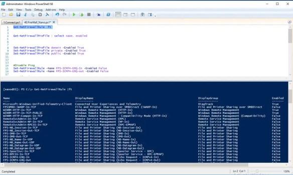 Firewall Management On Window Nano Server 2016 - Cloud and DevOps Blog