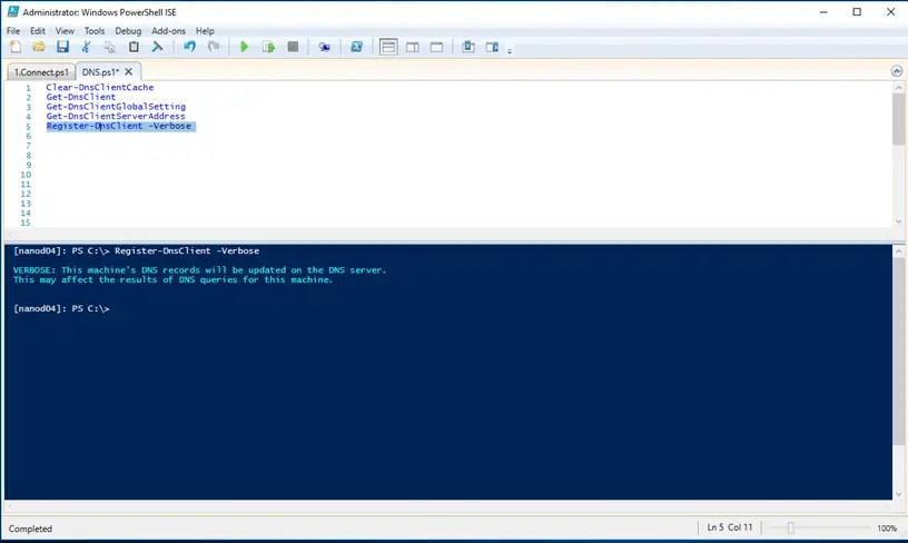 Manage DNS Setting On Windows Nano Server 2016 - Cloud and