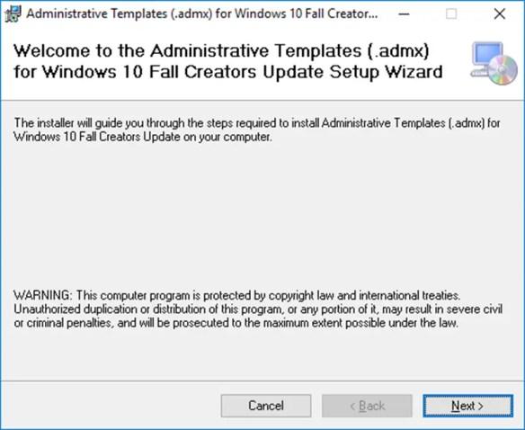 Windows Update 1709