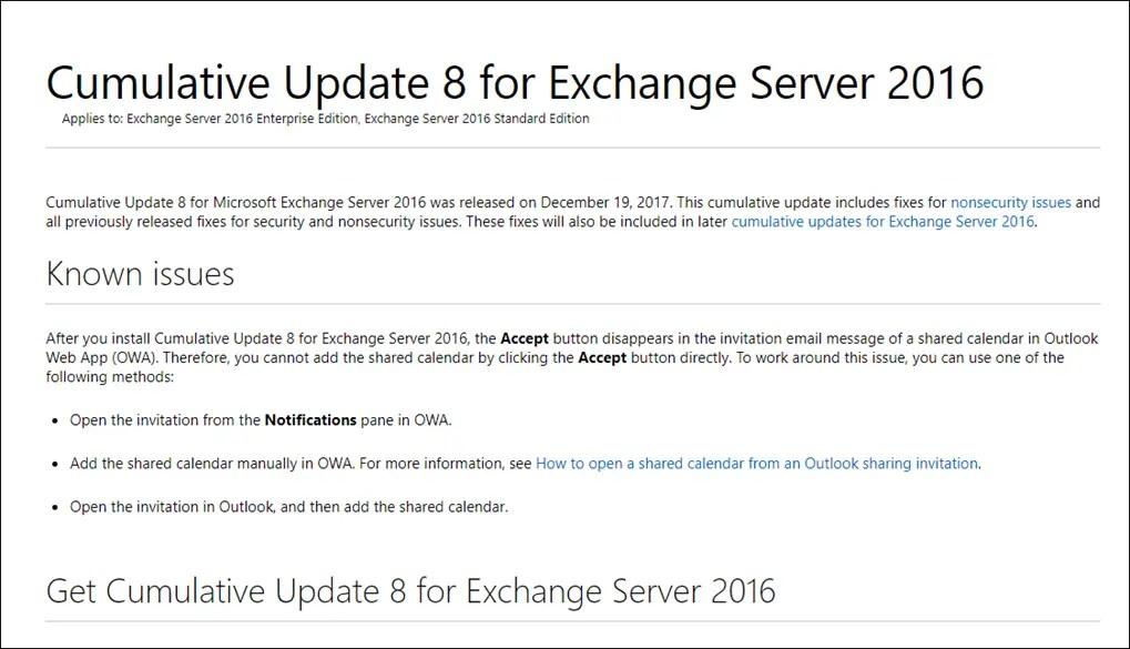 Exchange Server 2016 Cumulative Update 8 Released - Cloud and DevOps
