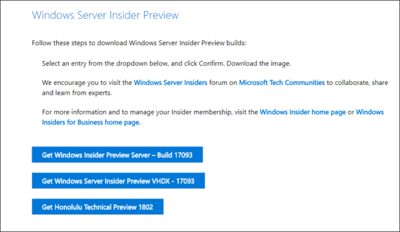 Windows Server Insider Preview Build 17093 Released with In