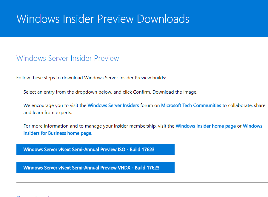 Windows Server 1803 Announced And Coming Soon - Cloud and DevOps Blog