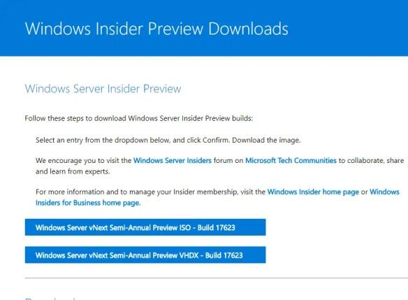 Windows Server 2019 Preview Build Released - Cloud and DevOps Blog