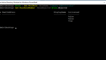 Get A List Of All Office 365 Global Administrators Using PowerShell
