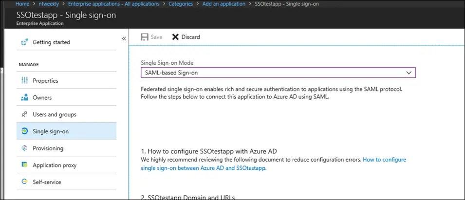 Configure Azure AD SSO With SAML Based Authentication