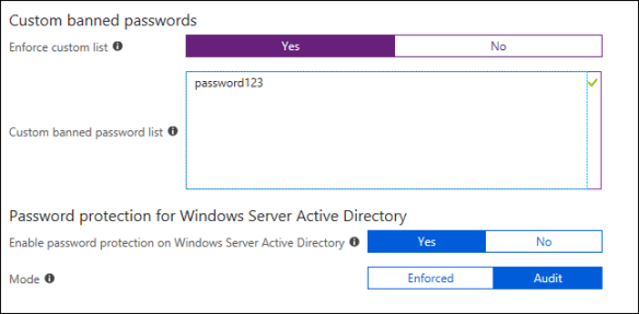 Enable Azure AD Password Protection and Smart Lockout