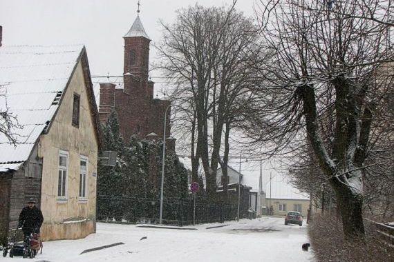 Tukumā snieg