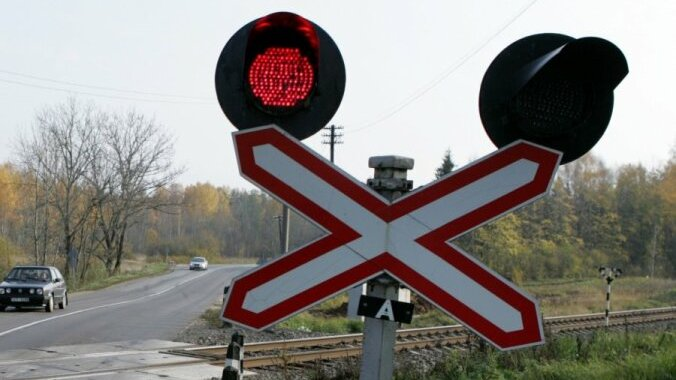 Slēgta dzelzceļa pārbrauktuve Slampē