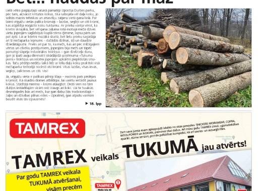 """1. decembra laikraksta """"Neatkarīgās Tukuma ziņas"""" apskats"""