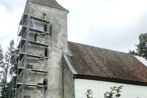 Vānes baznīcas tornī atklāj vēstījumu