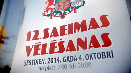 Viss par un ap 12. Saeimas vēlēšanām sestdien, 4. oktobrī