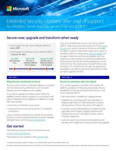 Extended Security Updates after end of support for Windows Server 2008 and SQL Server 2008 and 2008 R2