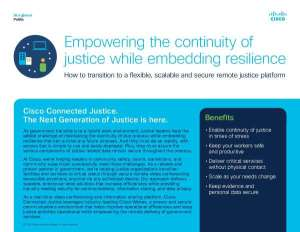 Empowering the continuity of justice while embedding resilience