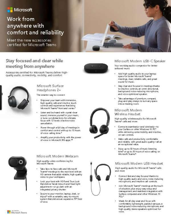 Work from anywhere with comfort and reliability