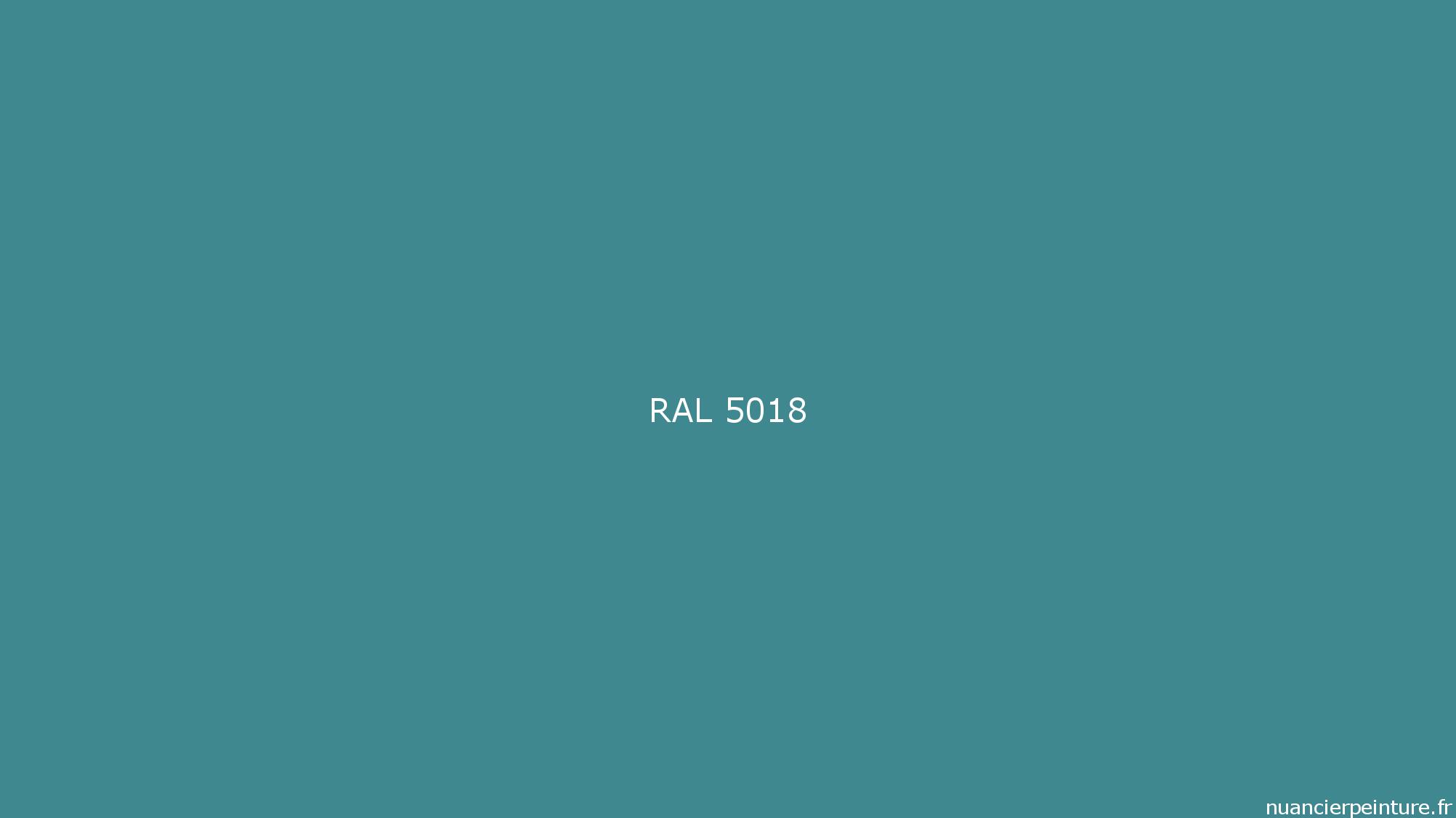 Ral 5018 Peinture Ral 5018 Bleu Turquoise Nuancierpeinture Fr