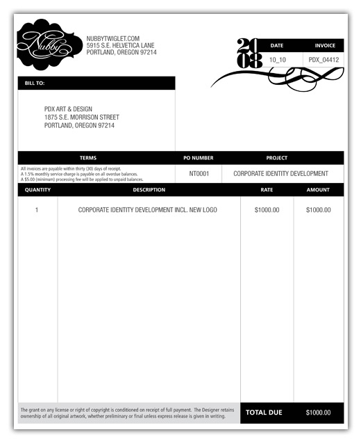 freelance graphic design invoice template – residers, Invoice templates