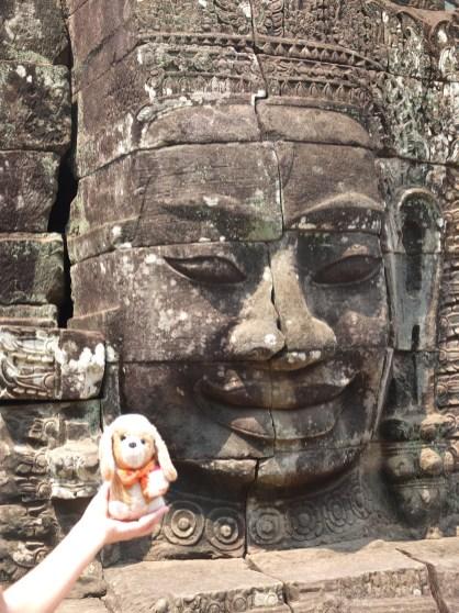 el guauguau en el Wat Bayon -camboya