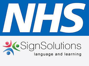 image of NHS and Sign Solutions logos
