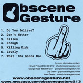 OBSCENE GESTURE (USA-Ca):