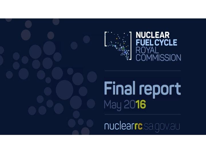 """Figur 1: Titelblatt des im Mai 2016 veröffentlichten Reports der Kommission """"Nuklearer Brennstoffzyklus"""""""