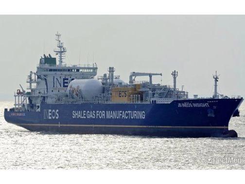 Figur 2: 30. September 2016: Ankunft des ersten Schiefergas-Tankers in einem Europäischen Hafen