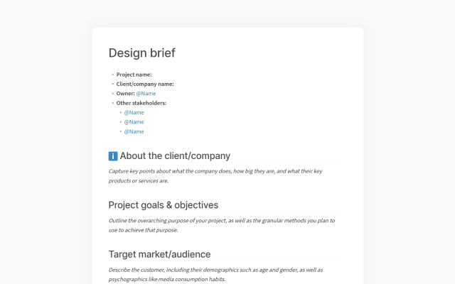 How to Write a Design Brief (with Examples)