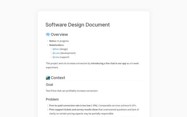 How to Write a Software Design Document (SDD)