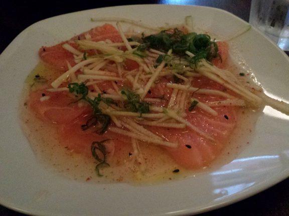 Sashimi - saumon et pommes