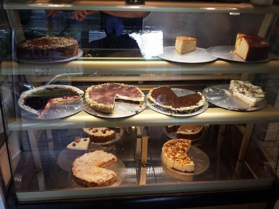 Comptoir de tartes et gâteaux