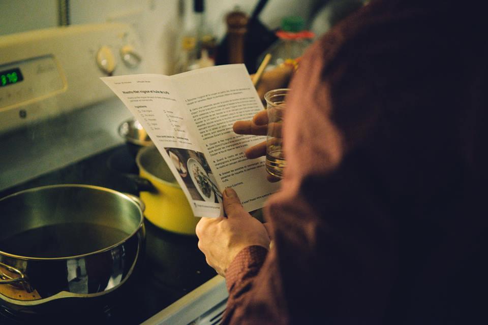 Olivier me lit la recette