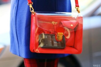Red Handbag Fashion Tech