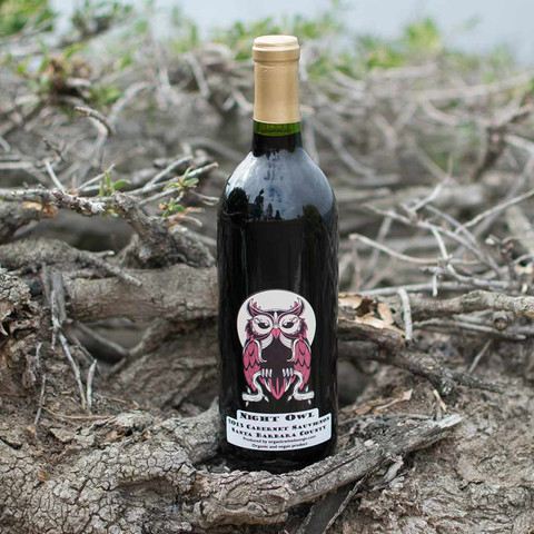 Night Owl Cabernet, Santa Barbara County 2013 (Vegan, Organic) from Clothing by Owl