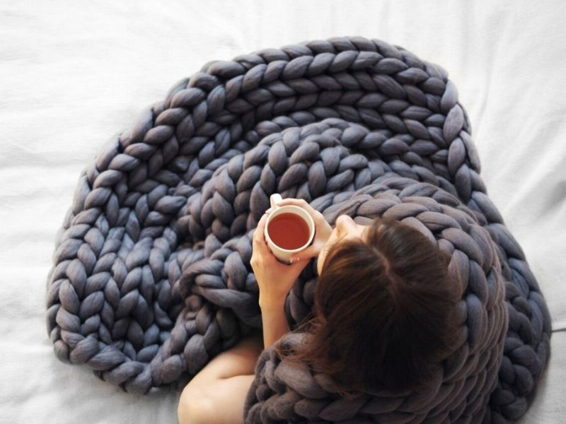 Giant knit blanket Ohhio Etsy