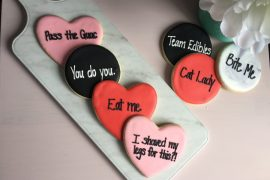 Cookies Valentines Day Anti Valentine Snacks Flatlay Cookies