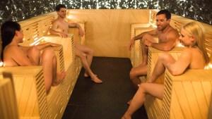 Sauna in costume