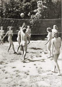 naked volleyball