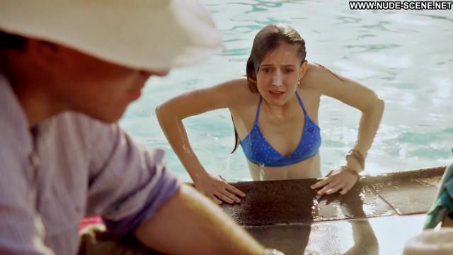 Hayley Mcfarland Lie To Me Pool Chair Bikini Swimming Pool Celebrity
