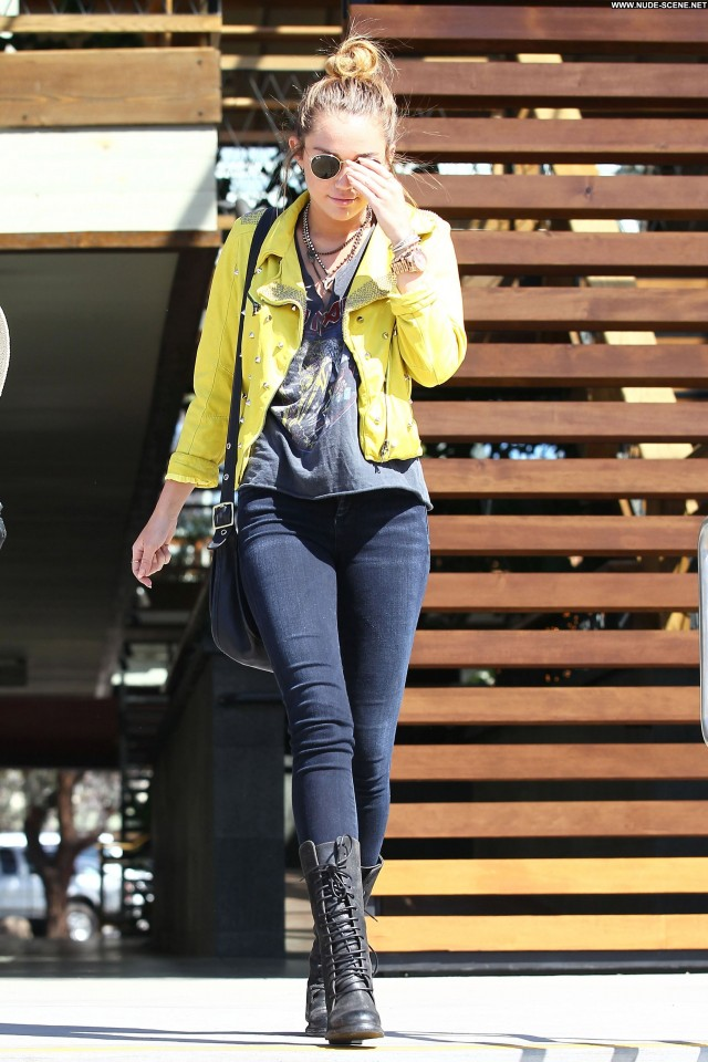 Miley Cyrus Out Shopping Sans Bra In Posing Hot Celebrity