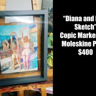 Alex Castaneda — Diana and Lisa Sketch
