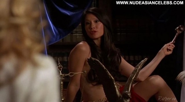 Lucy Liu Ally Mcbeal Small Tits Doll Brunette Celebrity Sexy Asian