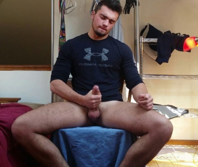 Sexy Man Jerking Off His Hard Cock