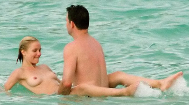 topless cameron diaz cavorting with lover