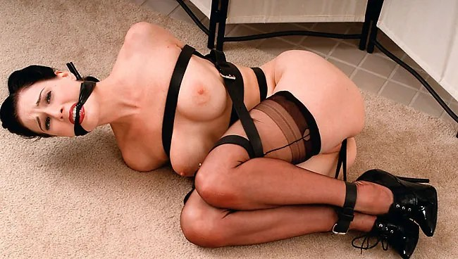 naked dita von teese bondage in stockings