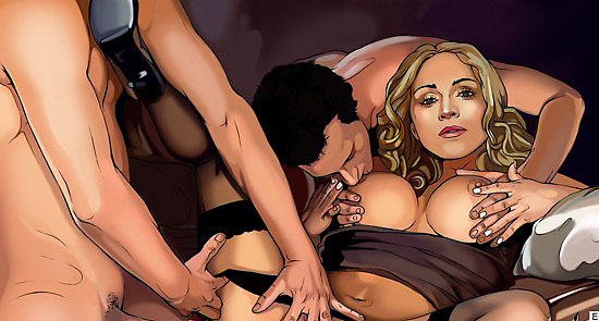 hot cartoon orgy with madonna in stockings