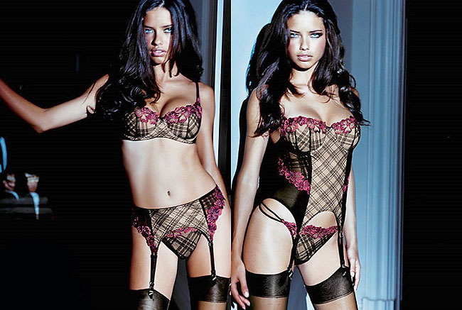 victoria's secret supermodel adriana lima sexy stockings