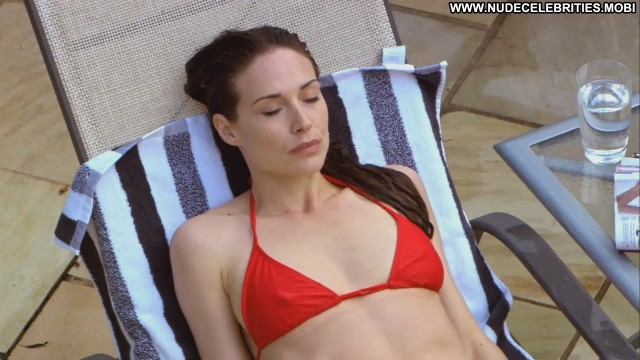 Claire Forlani False Witness Chair Bikini Pool Actress Nude Sexy