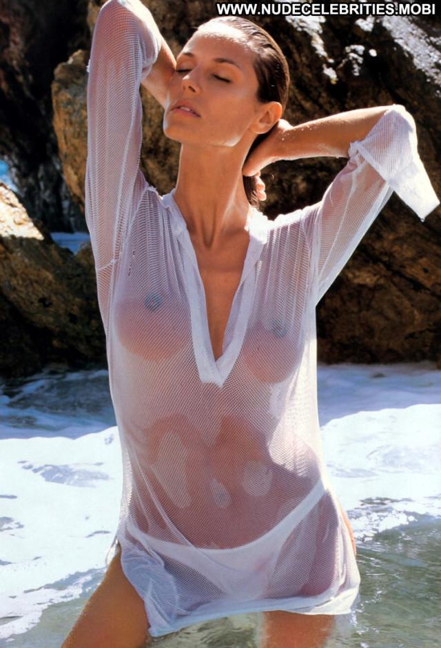 Heidi Klum The Beach Celebrity Beautiful Beach Babe Posing Hot Doll